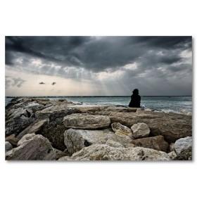 Αφίσα (θάλασσα, βράχια)